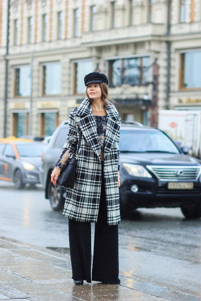 Модное осеннее пальто 2021 пальто в клетку