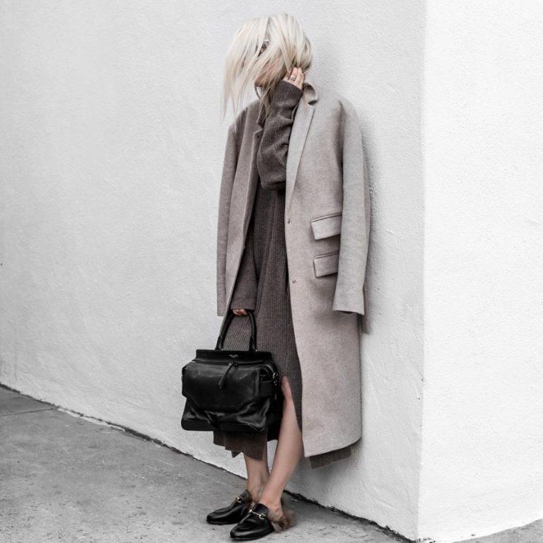 Модное осеннее пальто 2021 серое пальто
