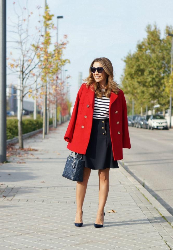 Модное осеннее пальто 2021 красное пальто