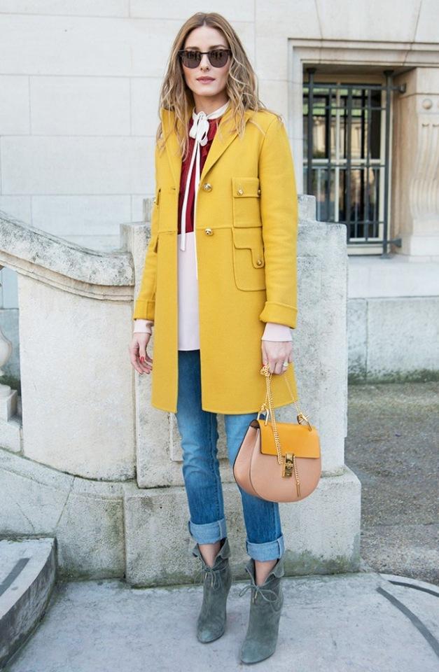 Модное осеннее пальто 2021 желтое пальто фото 2