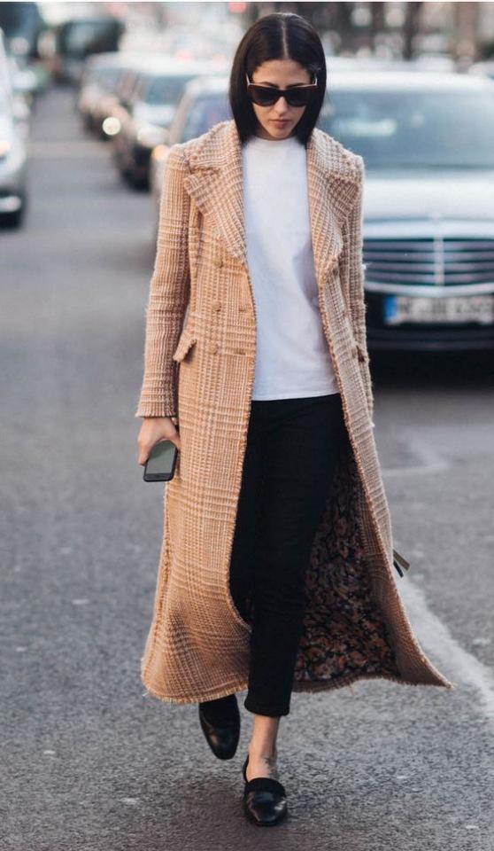 Модное осеннее пальто 2021 длинное пальто