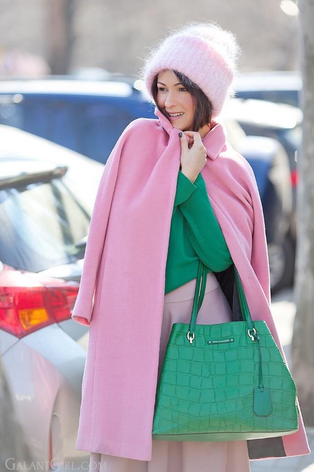 Модное осеннее пальто 2021 розовое пальто
