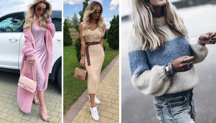 Модные вязаные вещи осень-зима 2018-2019: Современные и оригинальные модели для женщин