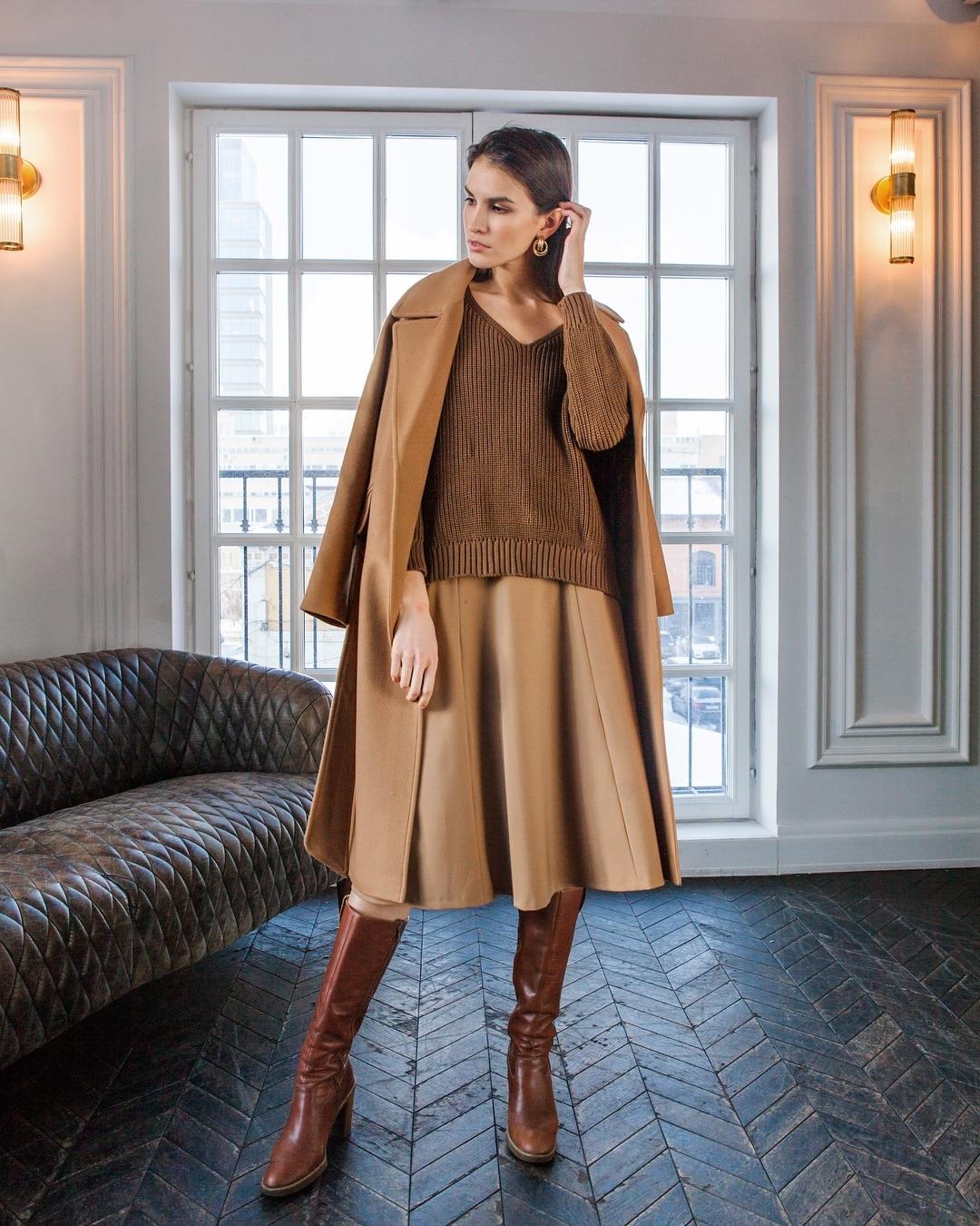Цвет мокко в одежде: как и с чем носить наряды кофейных оттенков этой осенью фото 6