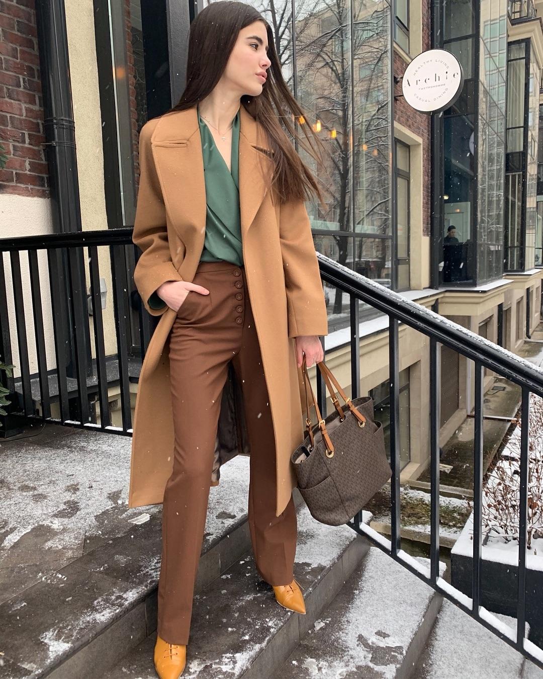 Цвет мокко в одежде: как и с чем носить наряды кофейных оттенков этой осенью фото 8